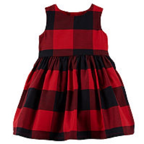 Carter's Sleeveless Buffalo Check Aline Dress Set